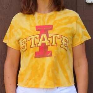 Iowa State Cyclones Custom Bleach Crop Top sz S